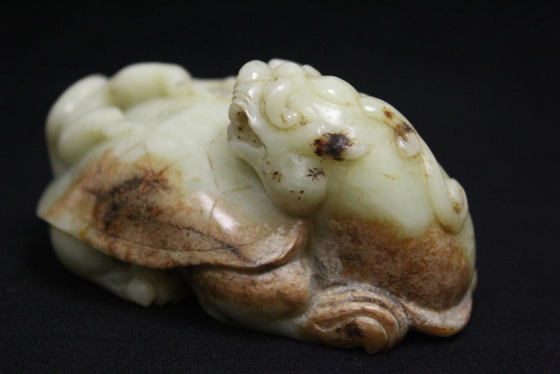 Chinese celadon jade carved qilin - 8