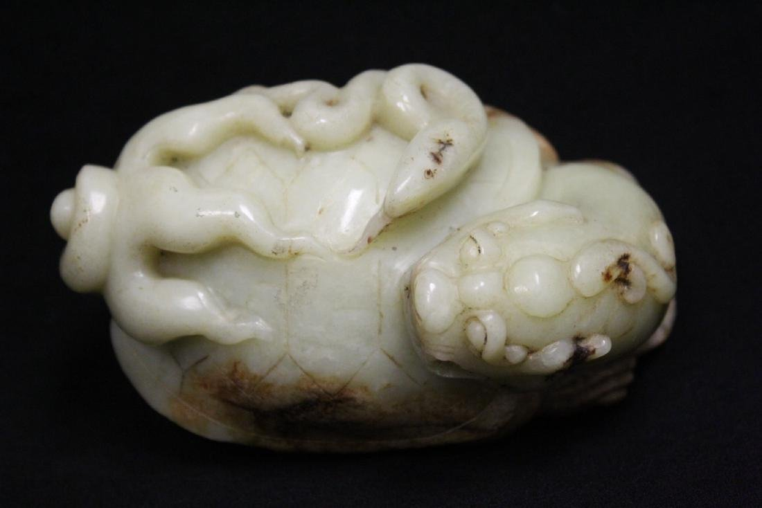 Chinese celadon jade carved qilin - 9