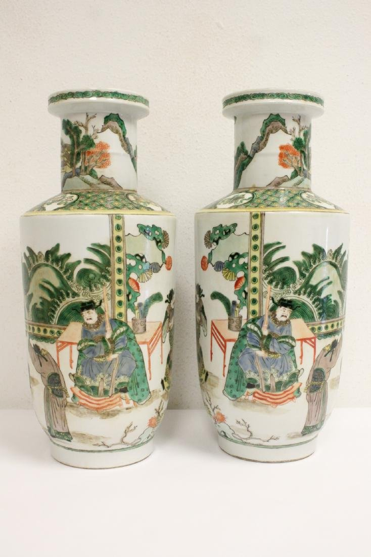 Pr beautiful Chinese famille rose porcelain vases - 2