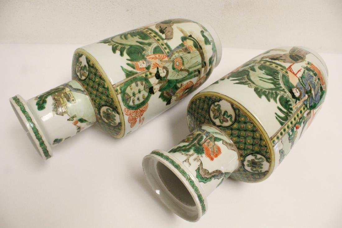 Pr beautiful Chinese famille rose porcelain vases - 9