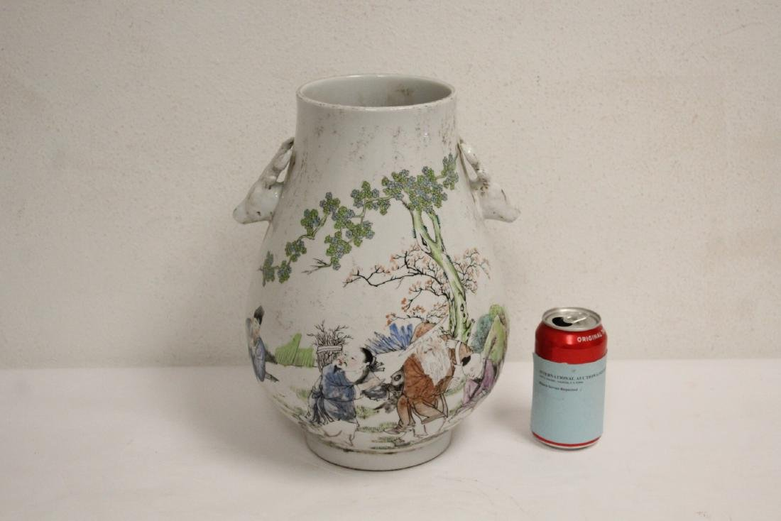 Chinese famille rose porcelain jar - 2