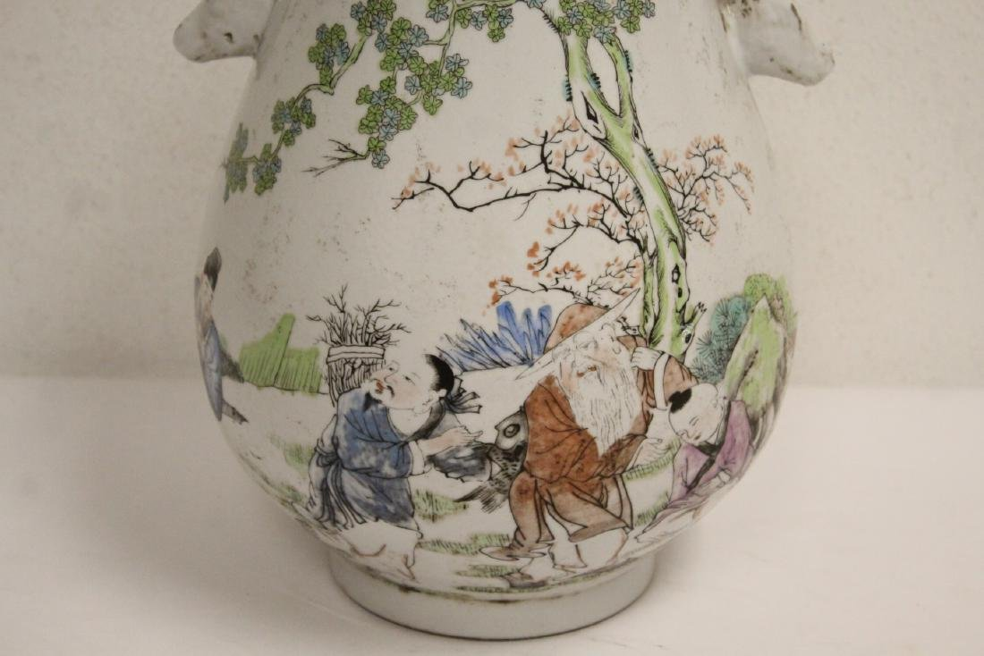Chinese famille rose porcelain jar - 8