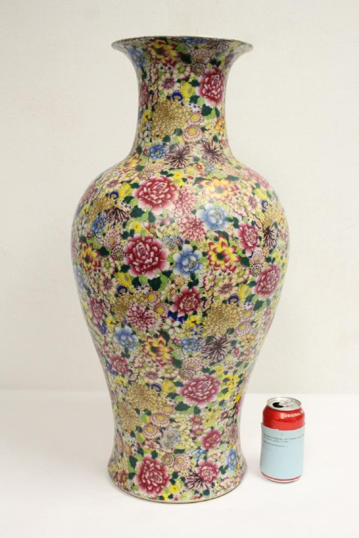 A massive Chinese famille rose porcelain vase