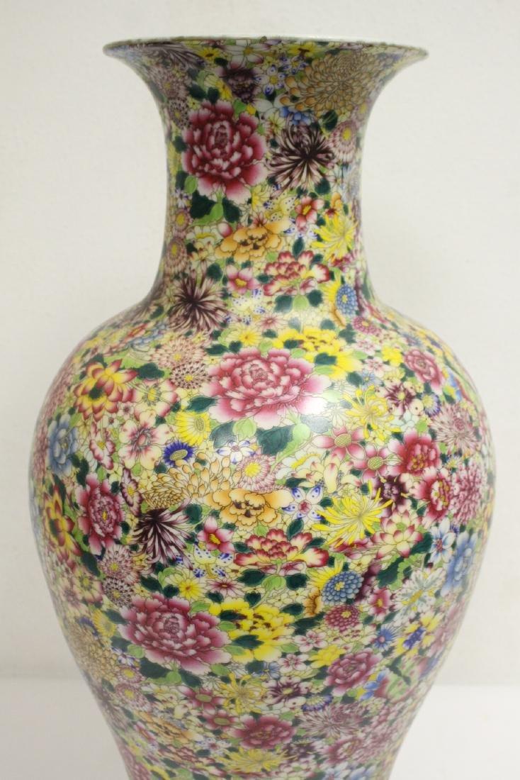 A massive Chinese famille rose porcelain vase - 6