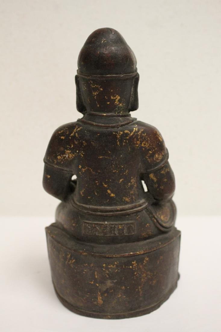 Chinese bronze sculpture of seated monk - 8