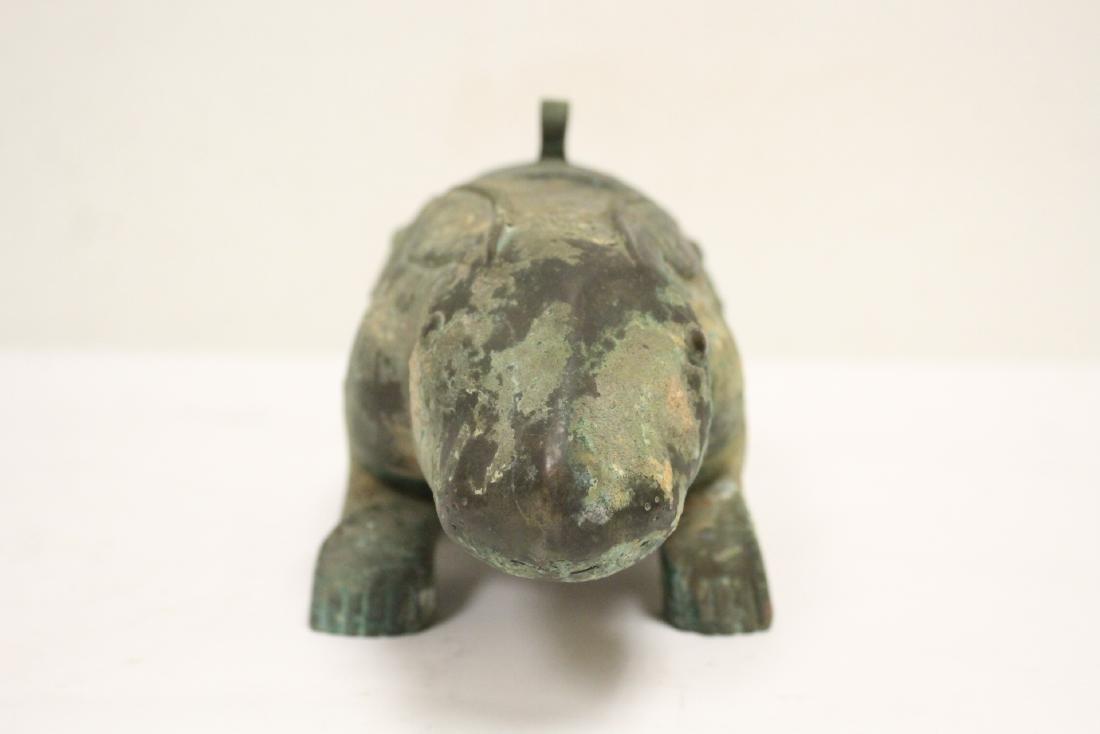 Unusual Chinese archaic style bronze censer - 3