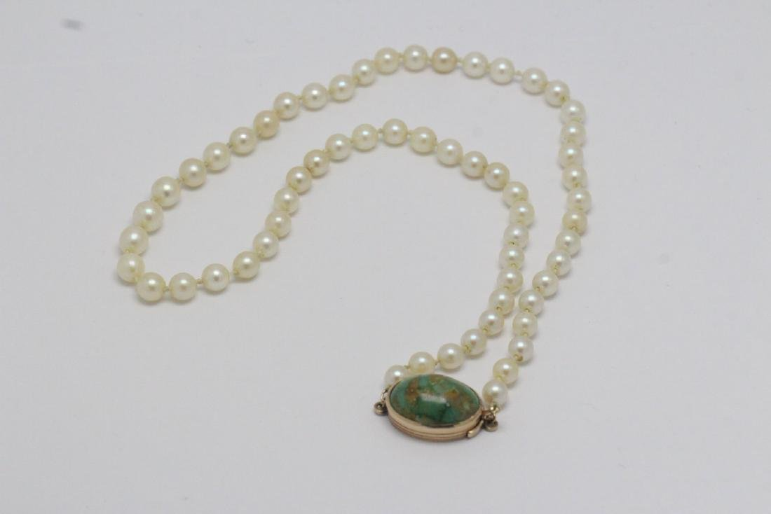 Vintage cultured pearl choker