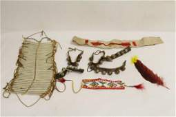 Indian vest and misc. Indian items