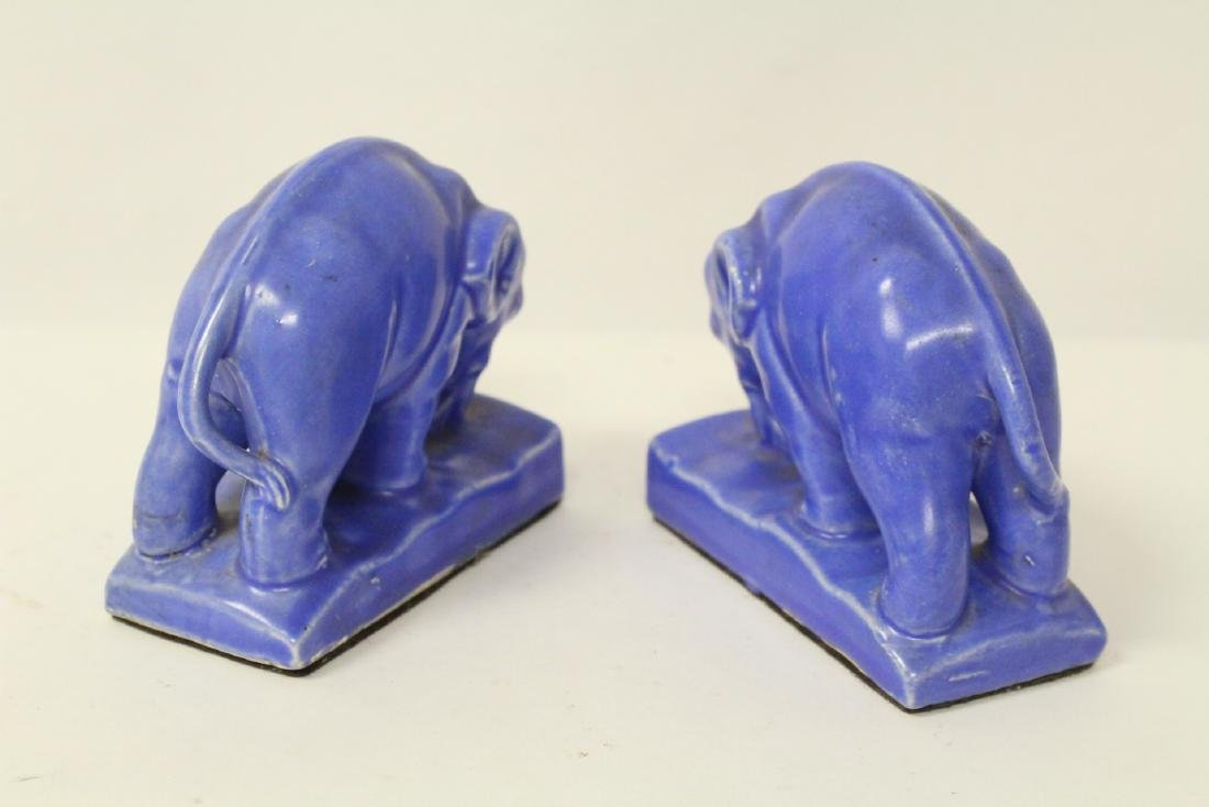2 pr pottery bookends; one early McCoy - 10