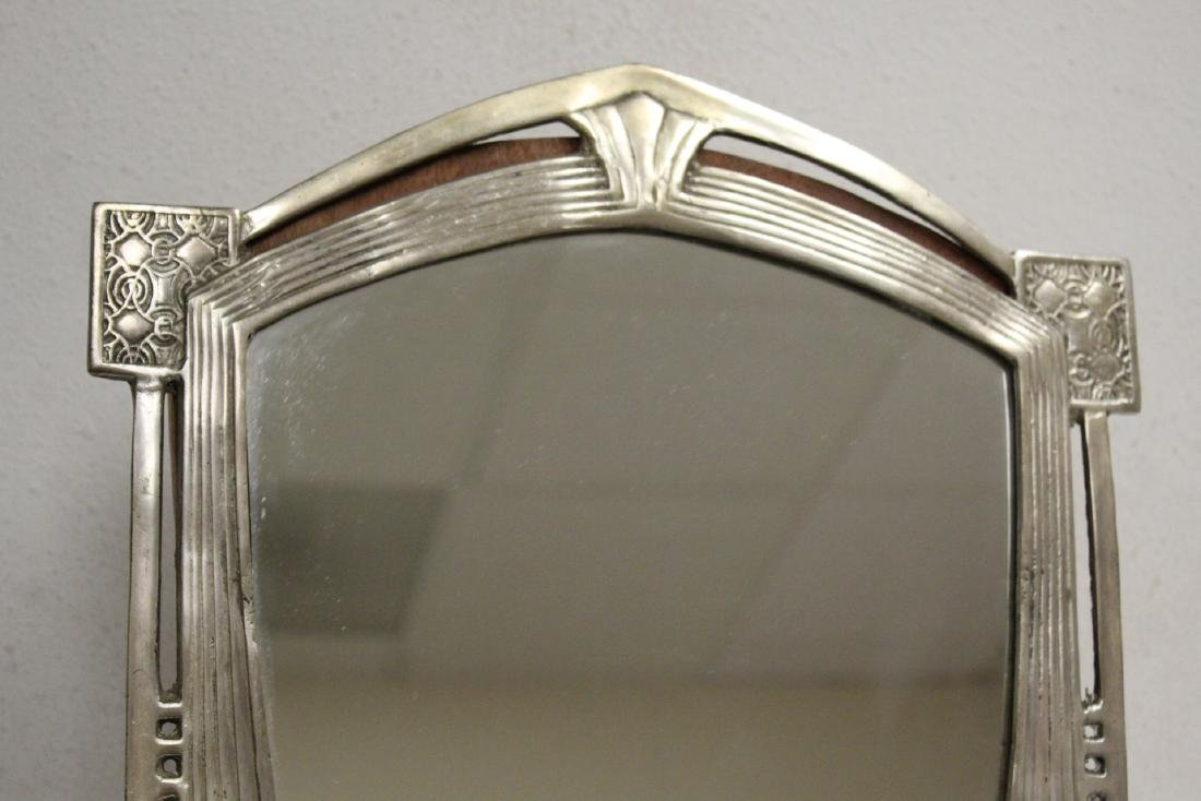 art deco aluminum framed table mirror - 2