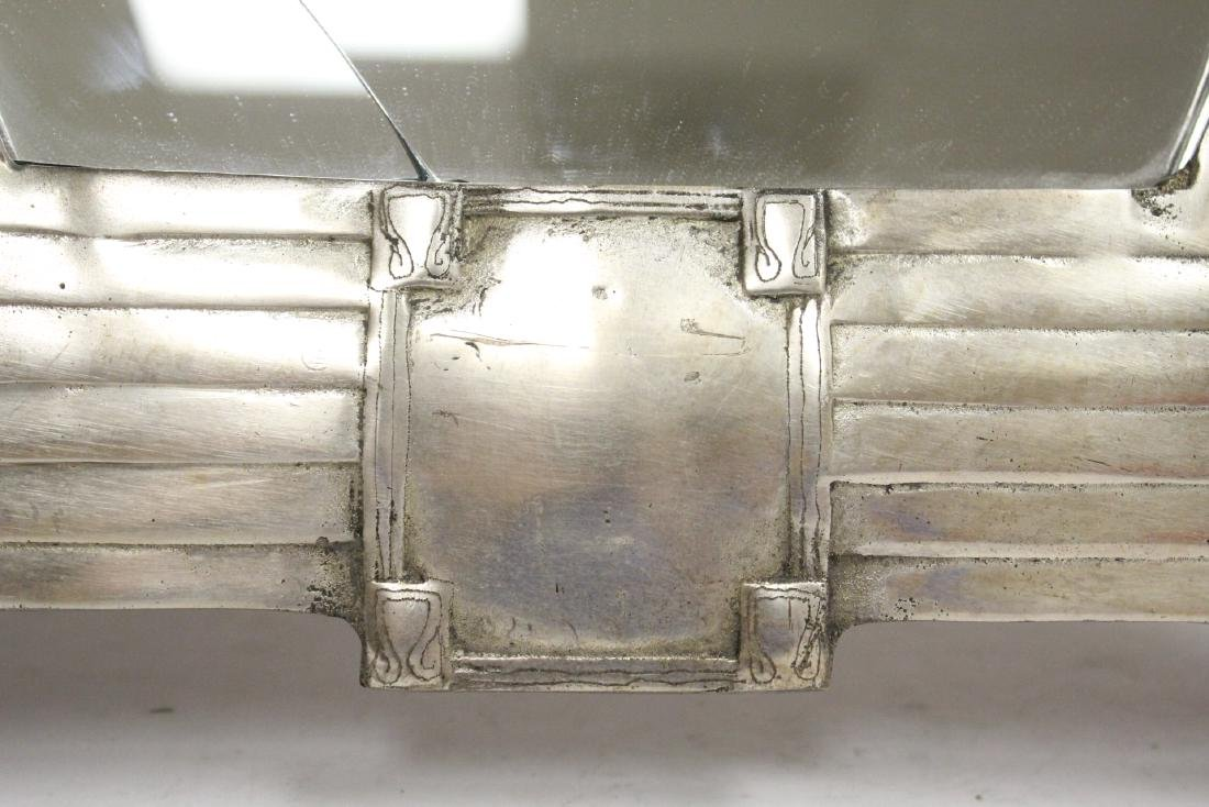 art deco aluminum framed table mirror - 7