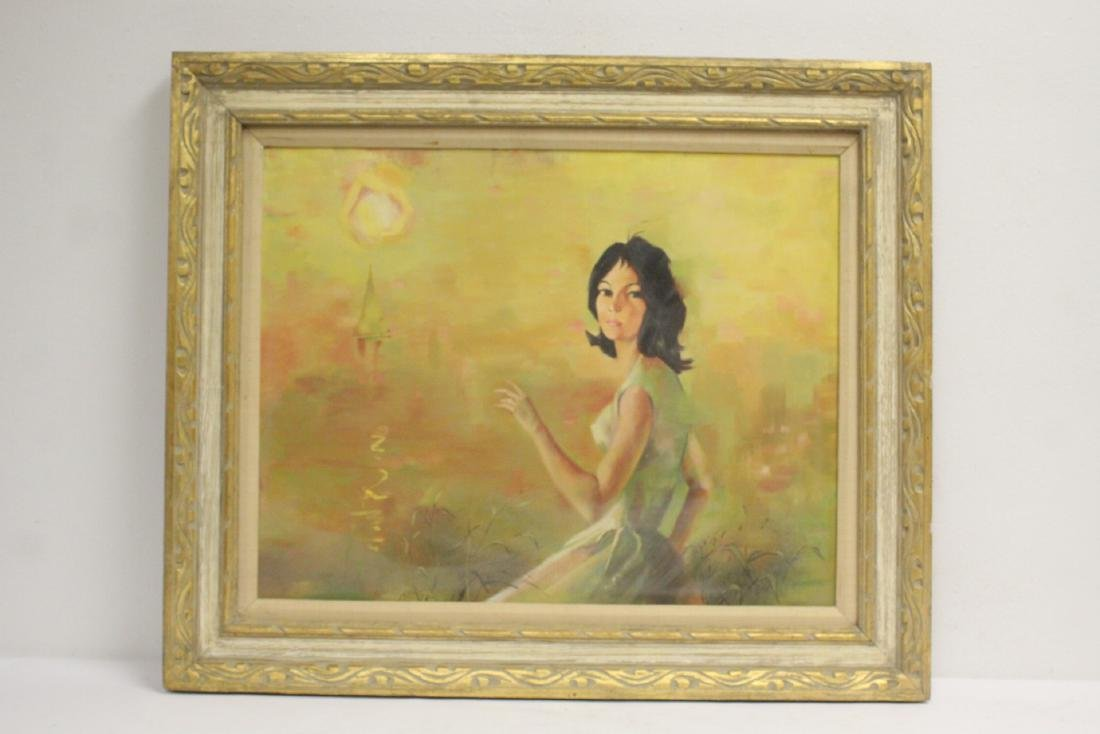 "2 oil paintings ""portrait of girl"" - 2"