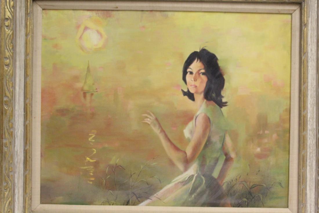"2 oil paintings ""portrait of girl"" - 3"