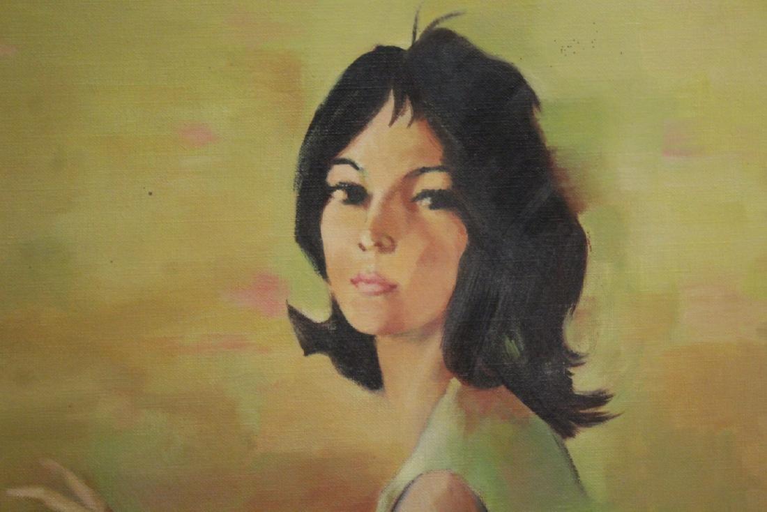 "2 oil paintings ""portrait of girl"" - 4"