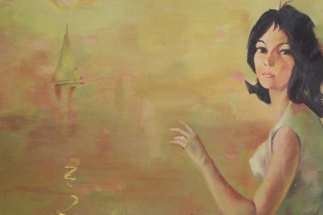 "2 oil paintings ""portrait of girl"" - 5"