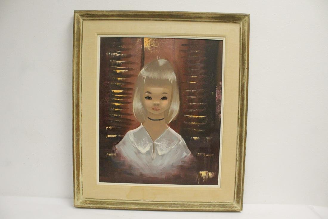 "2 oil paintings ""portrait of girl"" - 6"