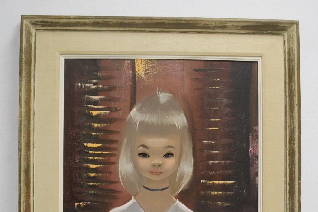 "2 oil paintings ""portrait of girl"" - 7"