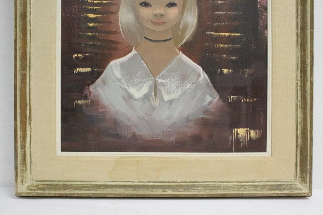 "2 oil paintings ""portrait of girl"" - 8"