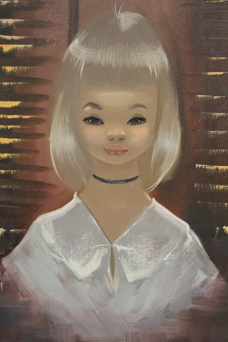 "2 oil paintings ""portrait of girl"" - 9"