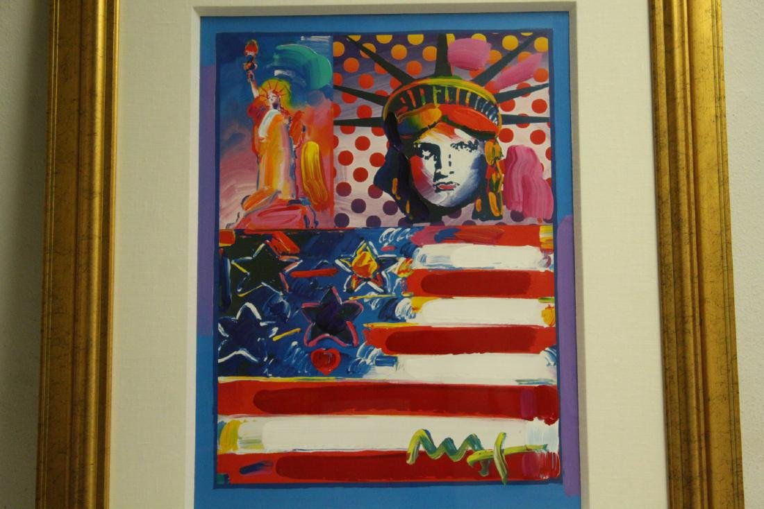 Mixed media on panel by Peter Max - 2