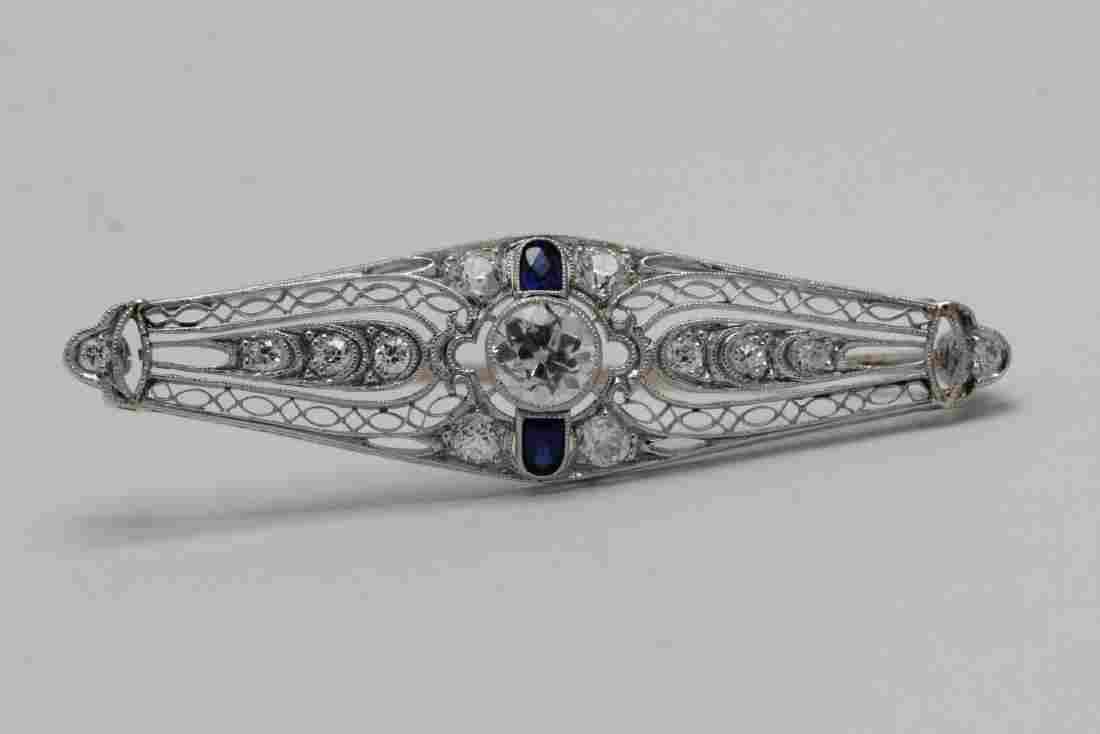 A beautiful platinum diamond brooch