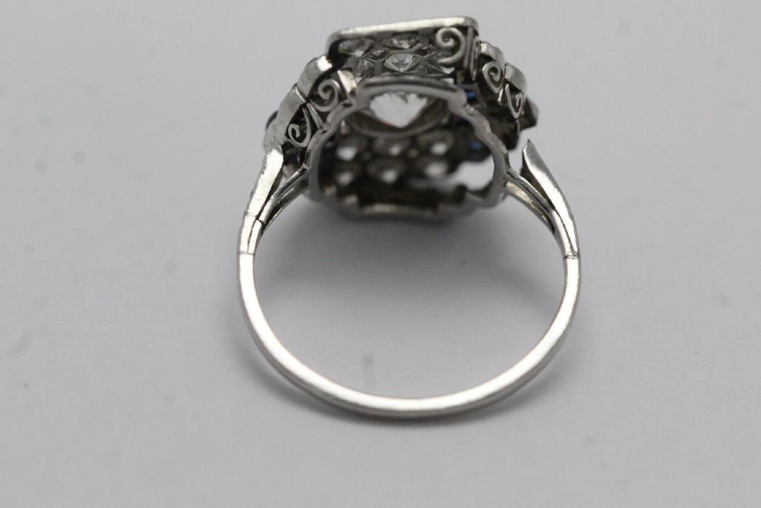 platinum art deco diamond ring - 9