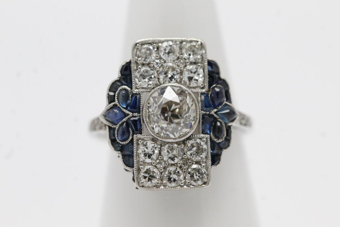 platinum art deco diamond ring