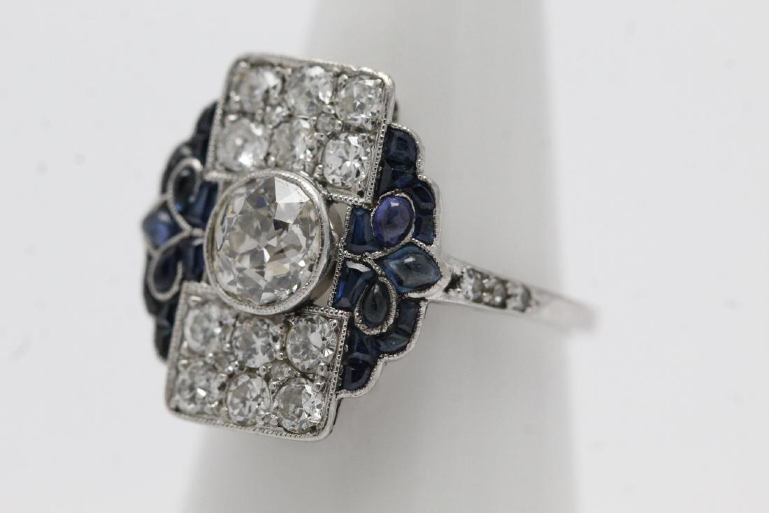 platinum art deco diamond ring - 3