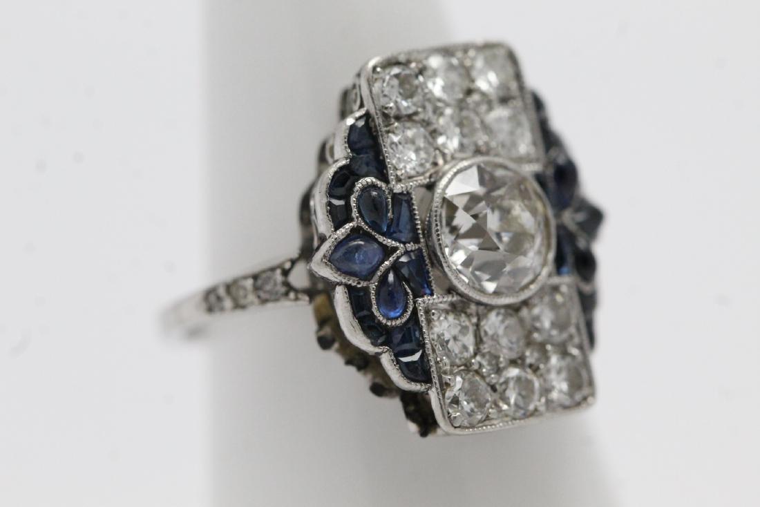 platinum art deco diamond ring - 4