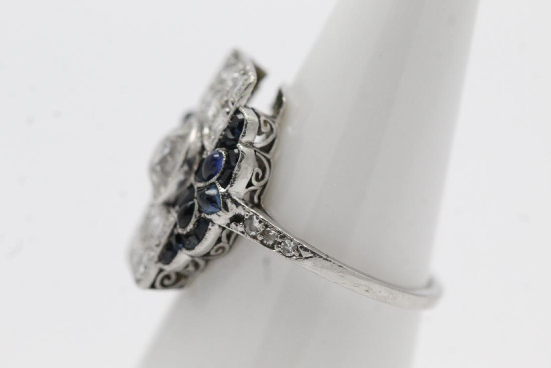 platinum art deco diamond ring - 5
