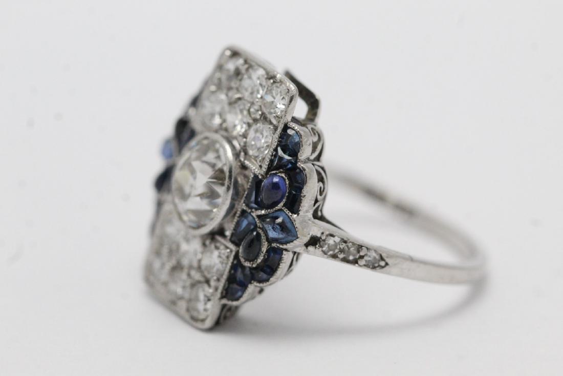platinum art deco diamond ring - 7