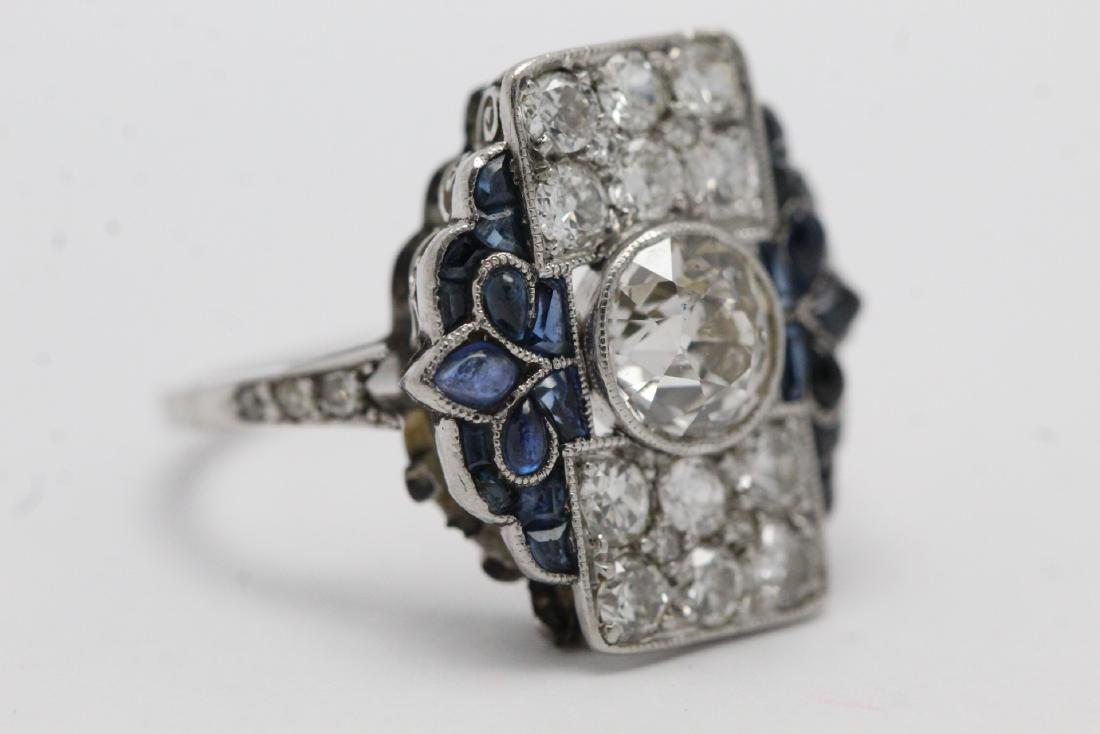 platinum art deco diamond ring - 8