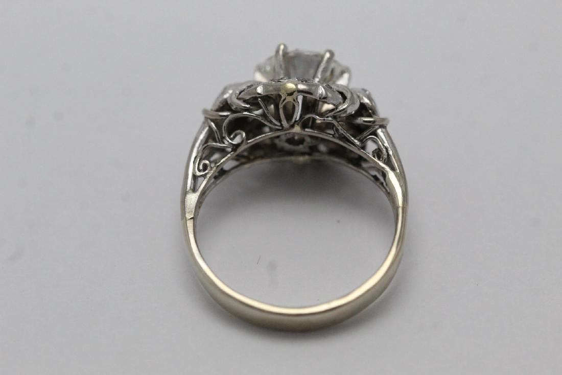 14K W/G art deco diamond ring, with GIA report - 10