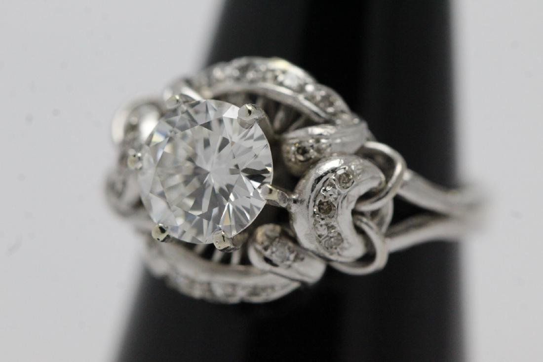 14K W/G art deco diamond ring, with GIA report - 3