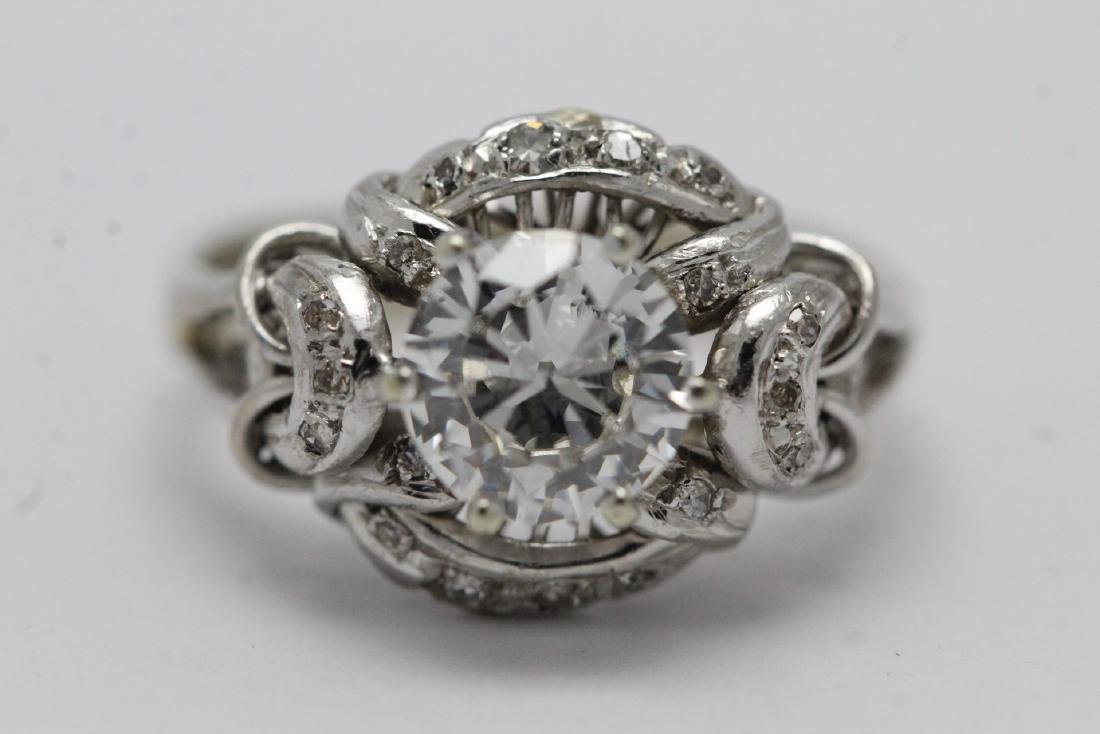 14K W/G art deco diamond ring, with GIA report - 7