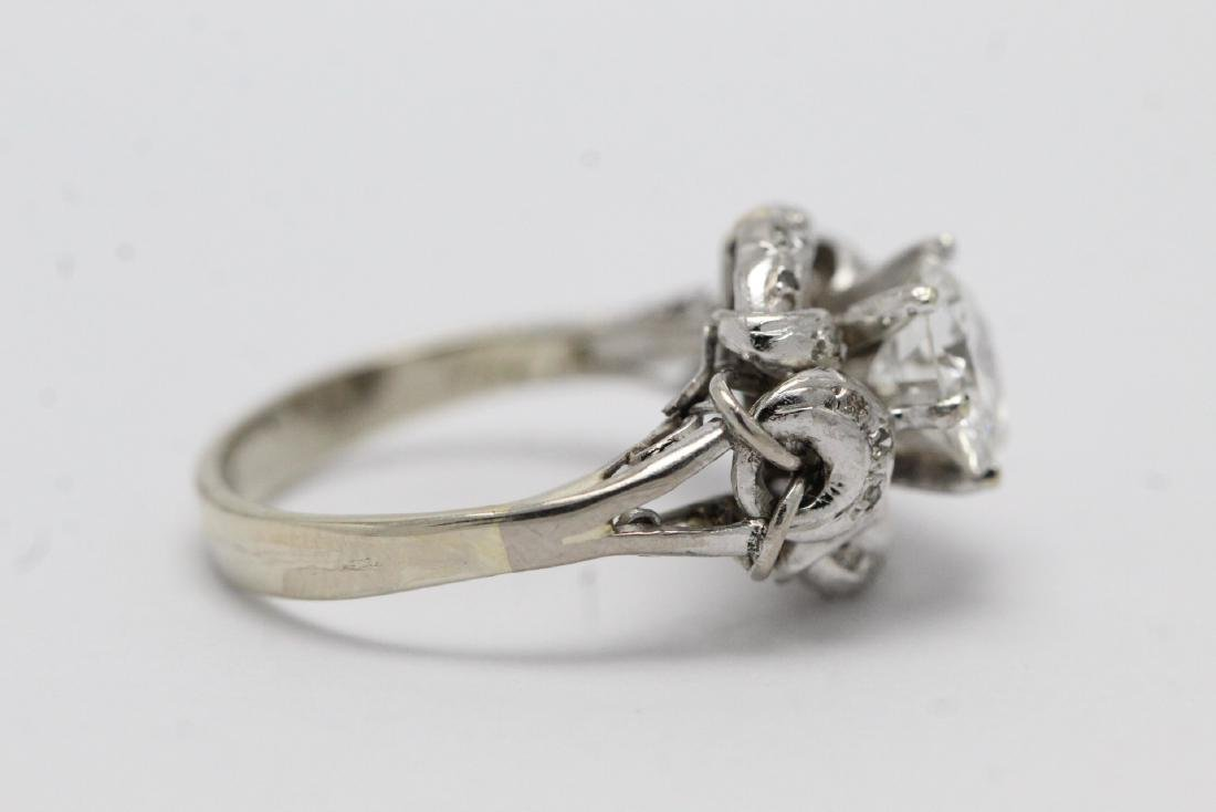 14K W/G art deco diamond ring, with GIA report - 9
