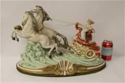 A beautiful capodimonte porcelain sculpture
