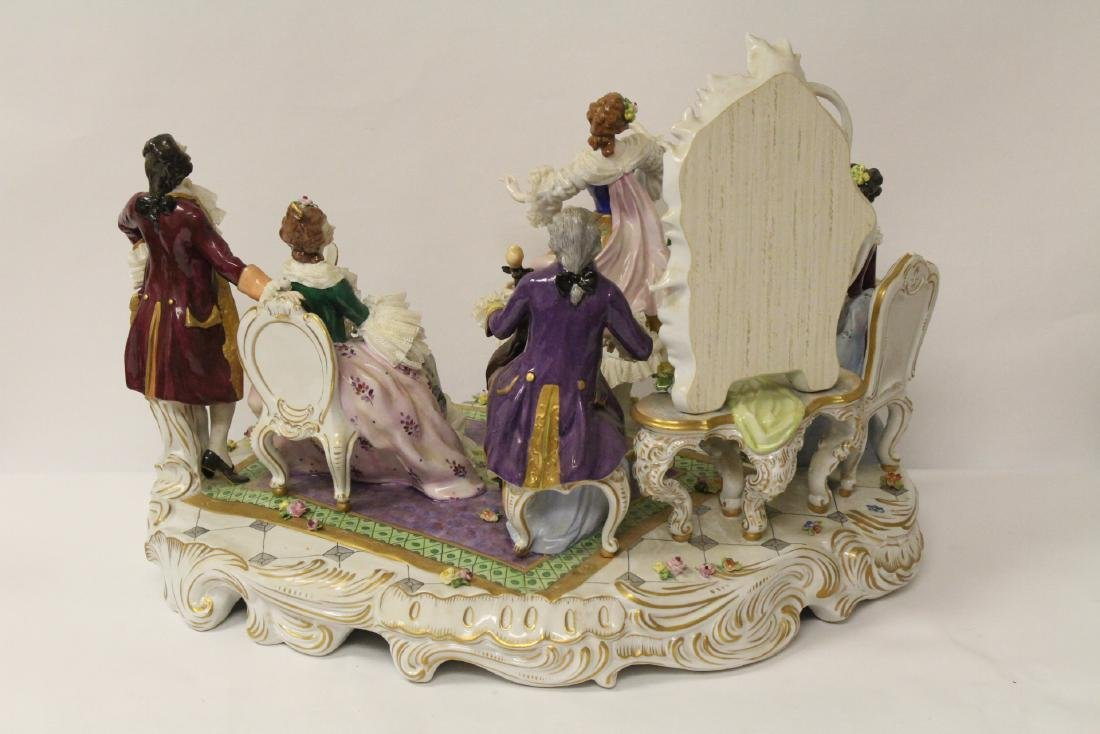 Large Dresden porcelain sculpture - 10