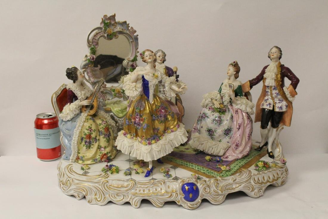 Large Dresden porcelain sculpture