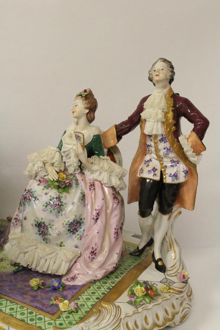 Large Dresden porcelain sculpture - 2