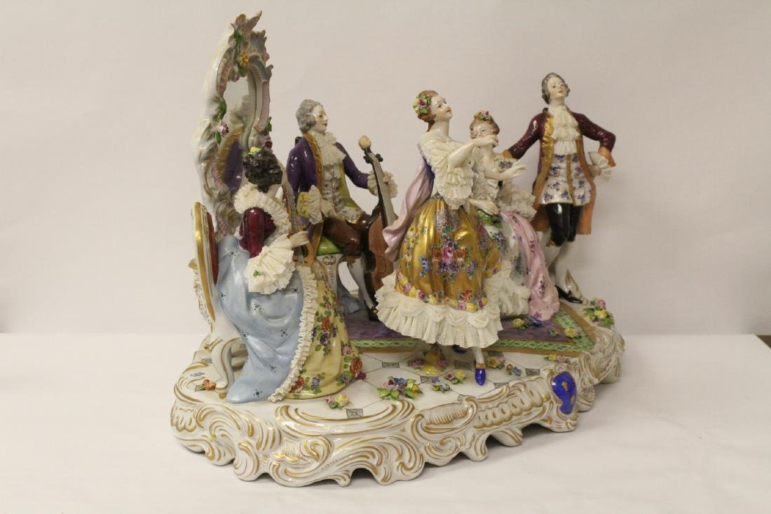 Large Dresden porcelain sculpture - 8