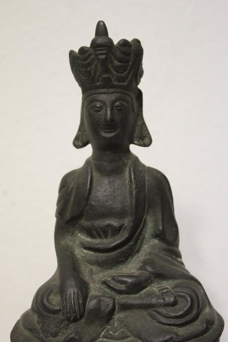 Bronze sculpture of seated Buddha - 6