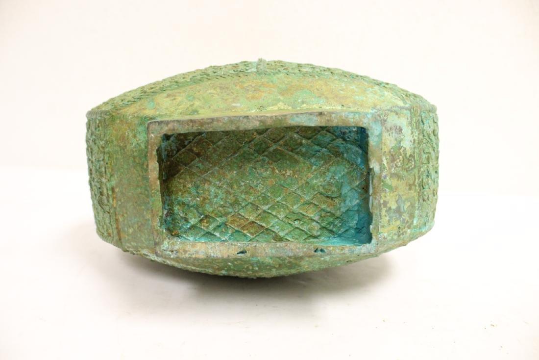 Chinese archaic style bronze hu - 10
