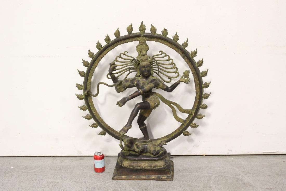 An important massive India bronze sculpture