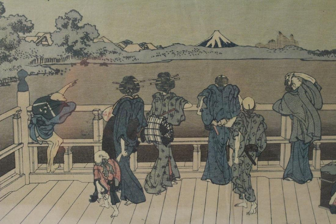 2 vintage Japanese w/b prints by Hokusai - 4