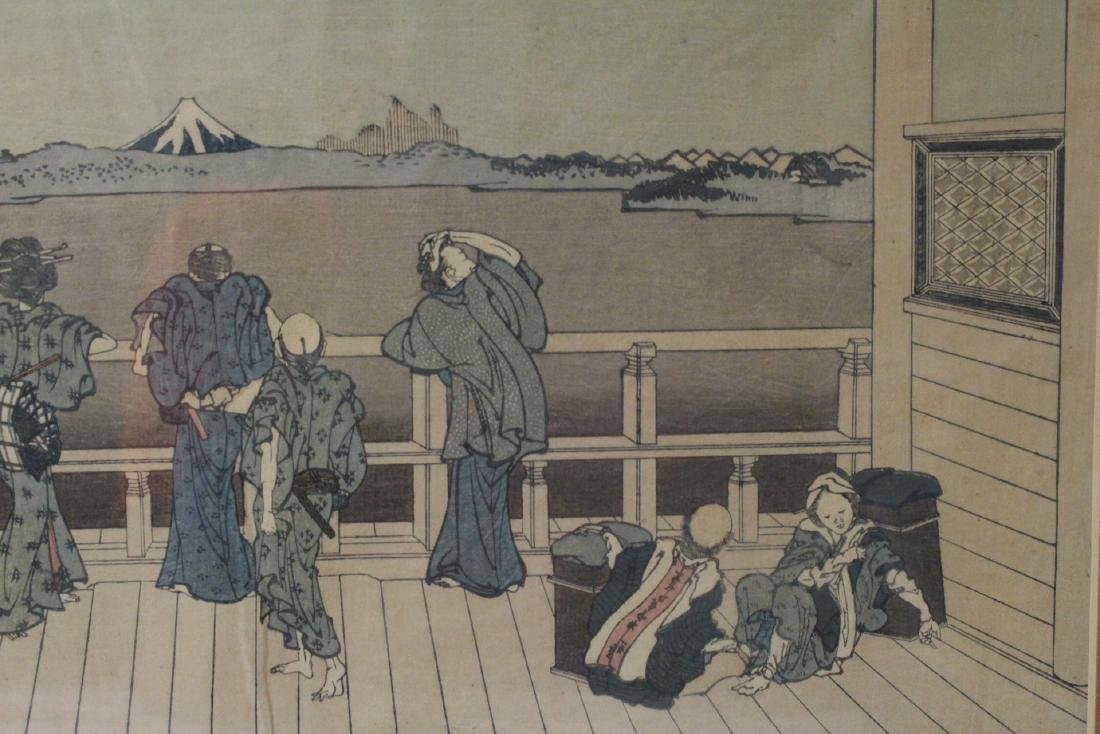 2 vintage Japanese w/b prints by Hokusai - 5