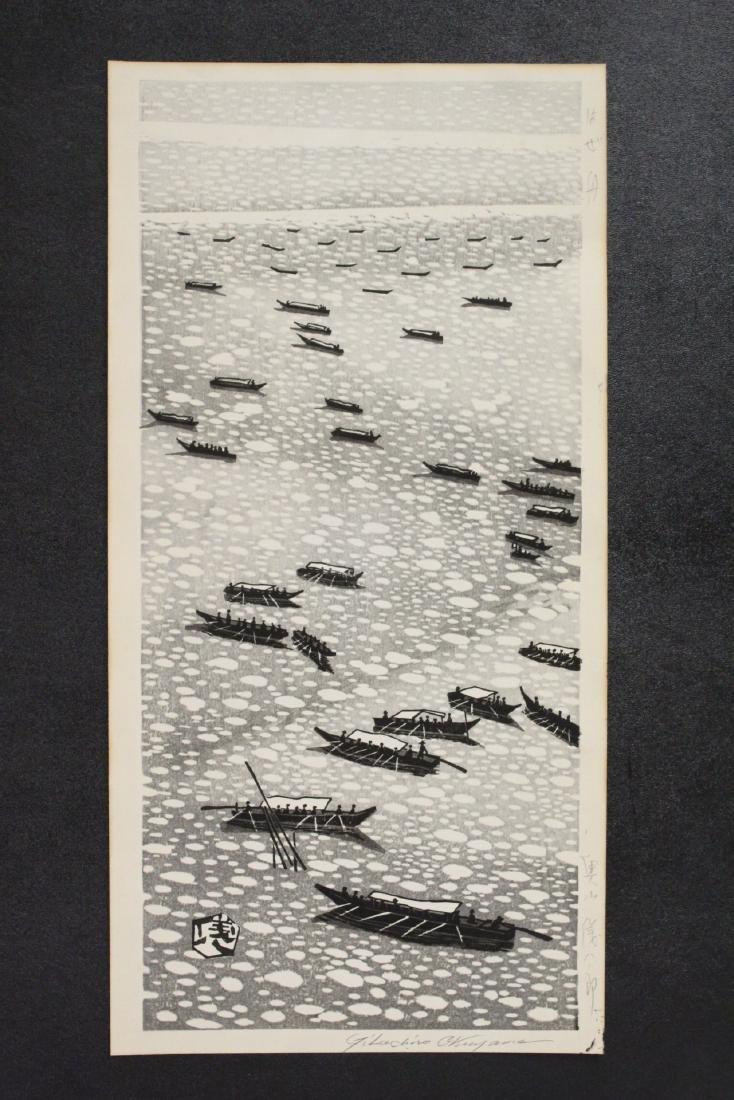Japanese woodblock print by Gihachiro Okuyama