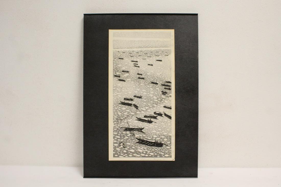Japanese woodblock print by Gihachiro Okuyama - 2