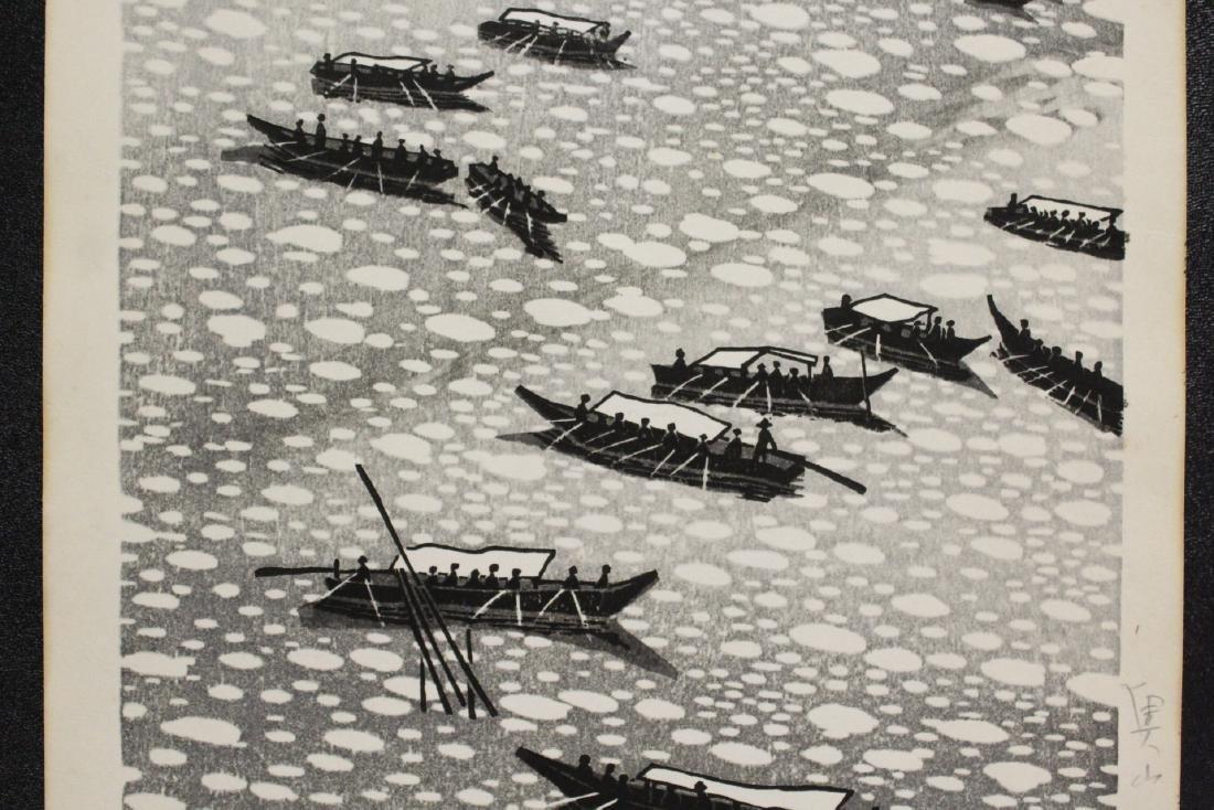 Japanese woodblock print by Gihachiro Okuyama - 5