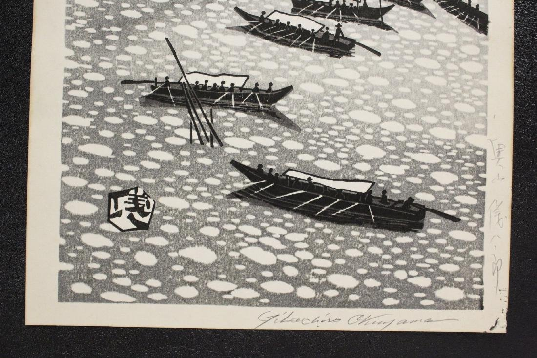 Japanese woodblock print by Gihachiro Okuyama - 6